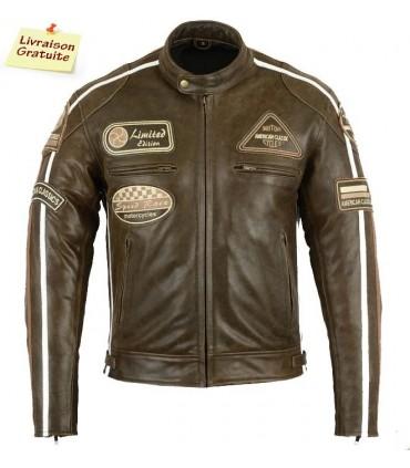 Blouson Moto Cuir Biker réf:7868