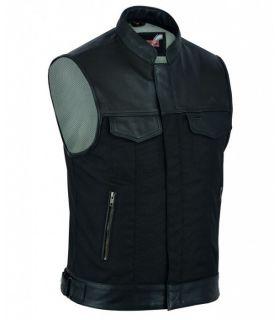 Gilet Biker cuir/coton...