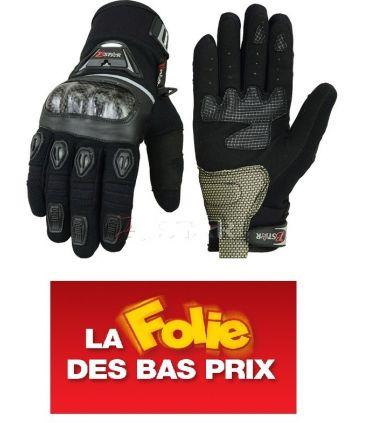 Gants Motos Noir  Printemps/Eté