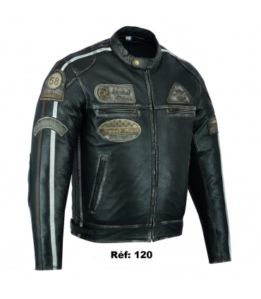 Blouson cuir moto