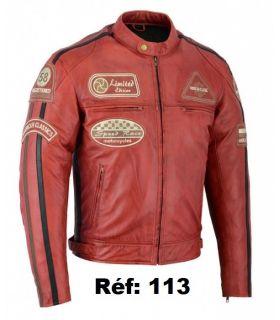 Blouson  cuir moto vintage