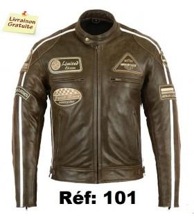 Blouson Moto Cuir Biker...