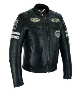 Veste Moto Vintage Cuir...