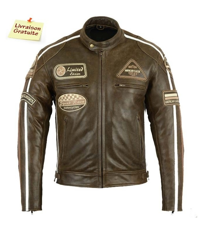 Blouson Moto cuir Biker VIntage
