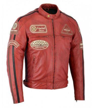 Veste cuir moto vintage (Réf:113)