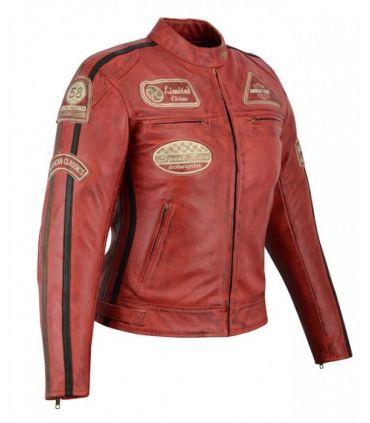 Veste cuir moto vintage (Réf:410)