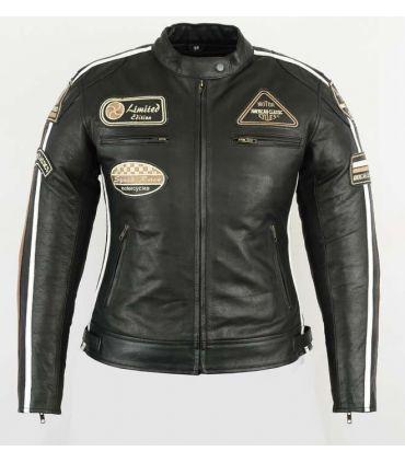 Veste cuir moto vintage (Réf:411)